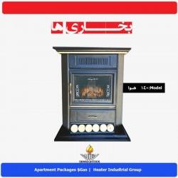 بخاری گازي شارق توس مدل طرح شومینه هیوا 140