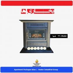 بخاری گازي شارق توس مدل طرح شومینه هیوا 220
